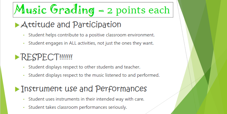 Music Grading Policy